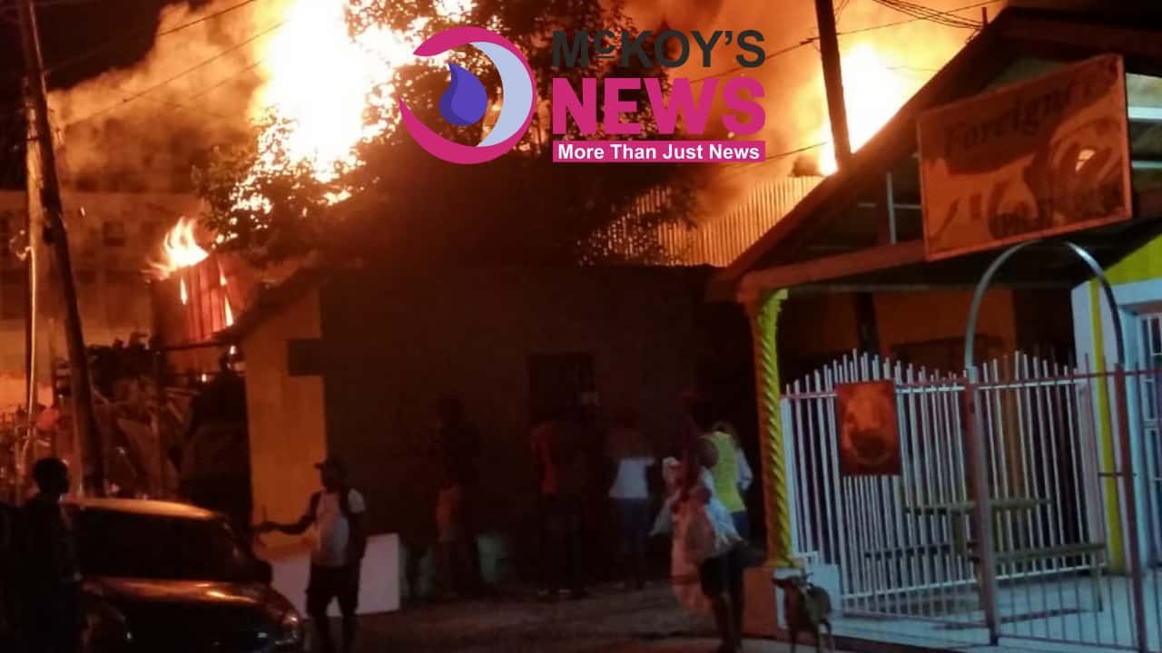 John John Auto Parts Burn Out in Montego Bay
