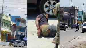 LIVE VIDEO FOOTAGE OF SHOOTOUT WITH POLICE AND GUNMAN IN SPANISH TOWN