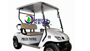 Some Golf Carts for Police Patrol Please Minister Montague