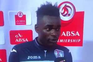 """Opps, Watch Ghanaian Footballer thank his wife AND """"girlfriend"""" on live TV"""