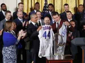 Obama celebrates World Series champion Chicago Cubs