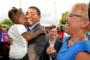 PM Touring Denham Town, Vows to Use €9.17-mil UE Grant Effectively