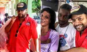 Shaggy Bring Gifts To Children At The Bustamante Hospital