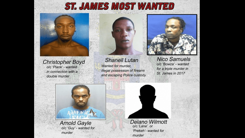 St James Five Most Wanted Men