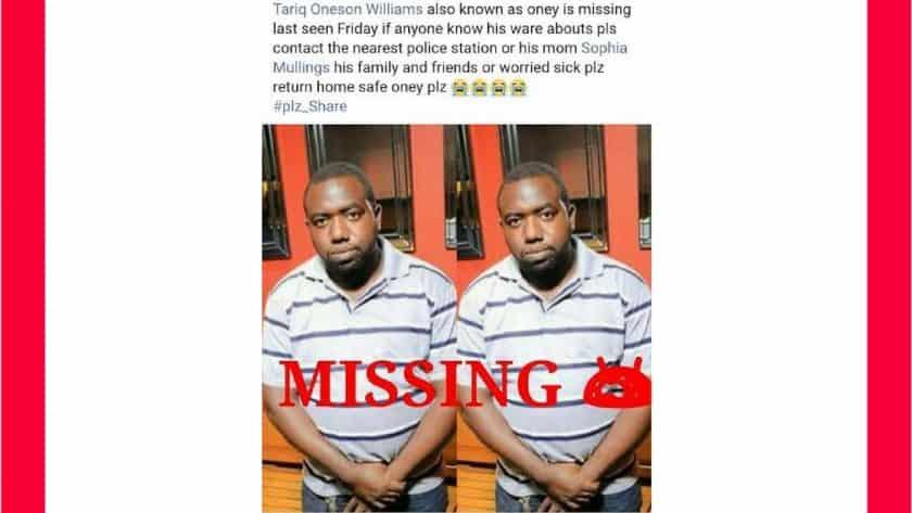 Tariq Williams Missing
