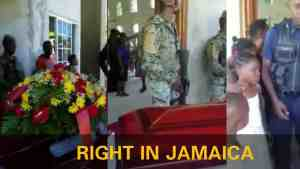 Video: Dead Body get Arrested at Funeral in Jamaica by Police and Soldiers
