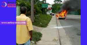 Motorist Narrowly Missed Being Burnt Alive in Montego Bay