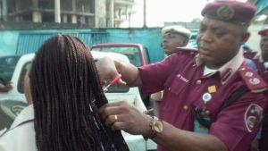 Hair-cutting Discipline – Nigerian Commander Cuts Female Hair as Punishment