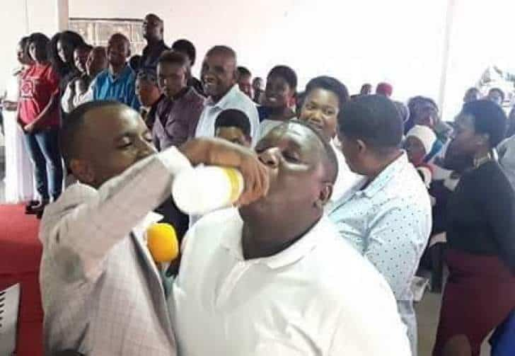 PHOTOS: 27 dead; 18 hospitalised after Pastor makes them drink jik in church