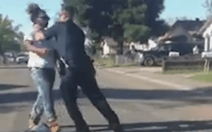 Jaywalking beating by California police, caught on camera
