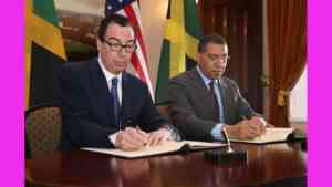 PM Holness Signs Energy Cooperation Framework with US Treasury Department