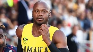 Jamaican Asafa Powel Finshes Ahead of US Justin Galtin at Doha Diamond League