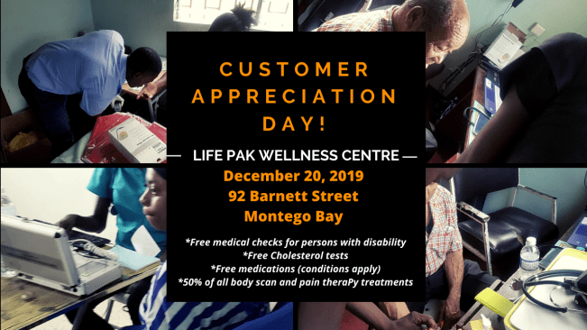 Life Pak Wellness Centre Customer Appreciation Day