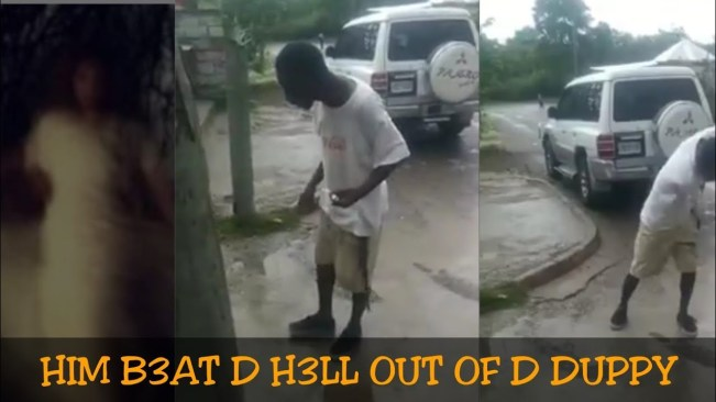 Watch Ghost Attack man in Jamaica