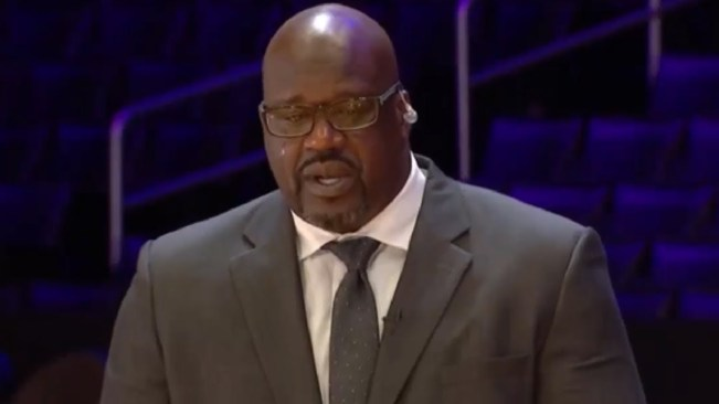 Shaq in tears remembering Kobe Bryant