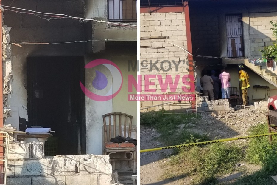 Charged for murder after wife dies in building that was set ablaze