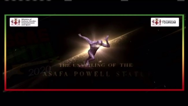 Unveiling of the Statue of Asafa Powell