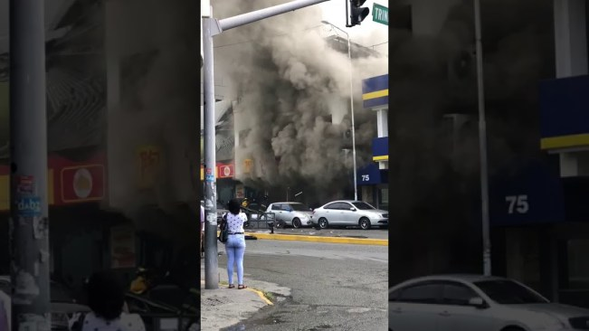 Explosion in New Kingston