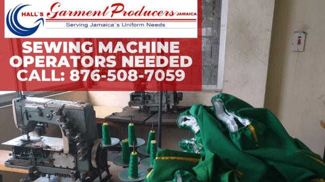 Montego Bay Based Garment Factory Urgently Seeks Sewing Machine Operators
