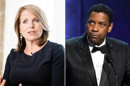 Katie Couric recalls 'uncomfortable' interview with Denzel Washington