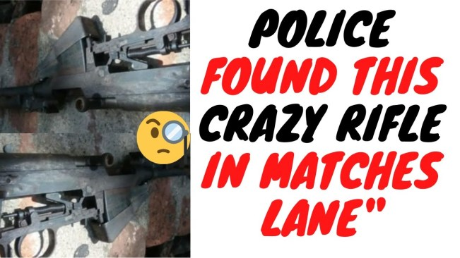Police Found This Unique Rifle In Matthews Lane And It's So Rare They Didn't Know What It Was