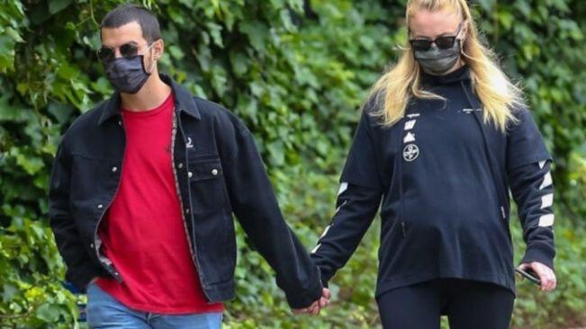 Pregnant Sophie Turner shows off baby bump on walk with Joe Jonas