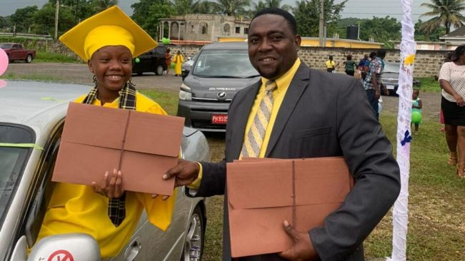 Chatsworth Primary and Infant Drive Thru graduation