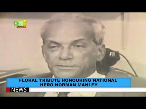 Floral Tribute Honouring National Hero Norman Manley