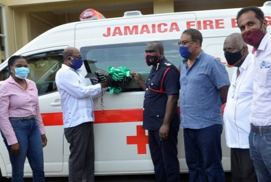 TEF Donates Ambulance To Negril Fire Department