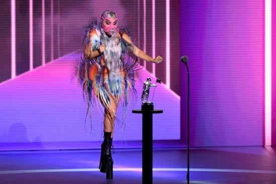 Lady Gaga dazzles in parade of high-fashion face masks at VMAs 2020