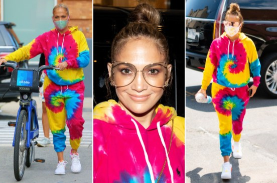 Jennifer Lopez's favorite tie-dye sweats take 'let's get loud' to a new level