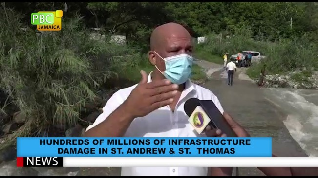 Hundreds Of Millions Of Infrastructure Damage In St. Andrew & St. Thomas