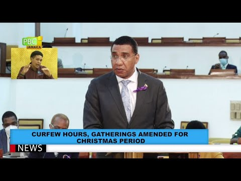 Curfew Hours, Gatherings Amended For Christmas Period