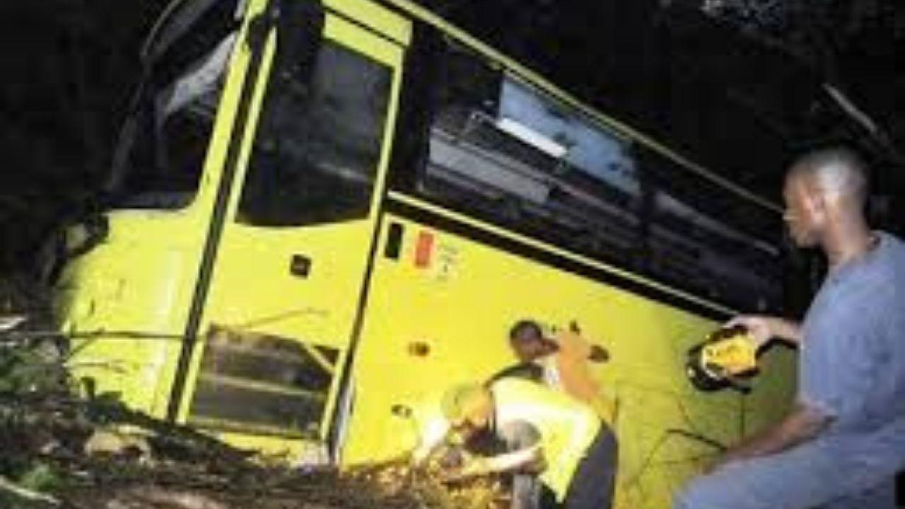JUTC Bus overturns
