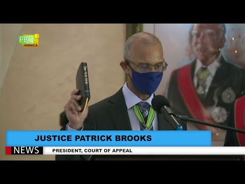Justice Patrick Brooks Sworn In As President Of The Court Of Appeal