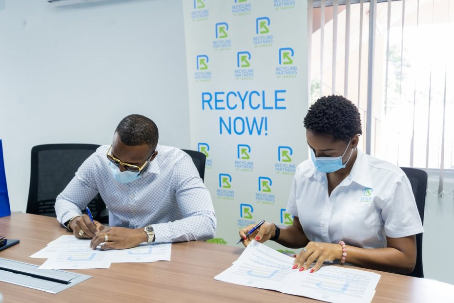 Agent Sasco now a Brand Ambassador for Recycling Partners of Jamaica
