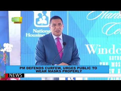 PM Defends Curfew, Urges Public To Wear Properly