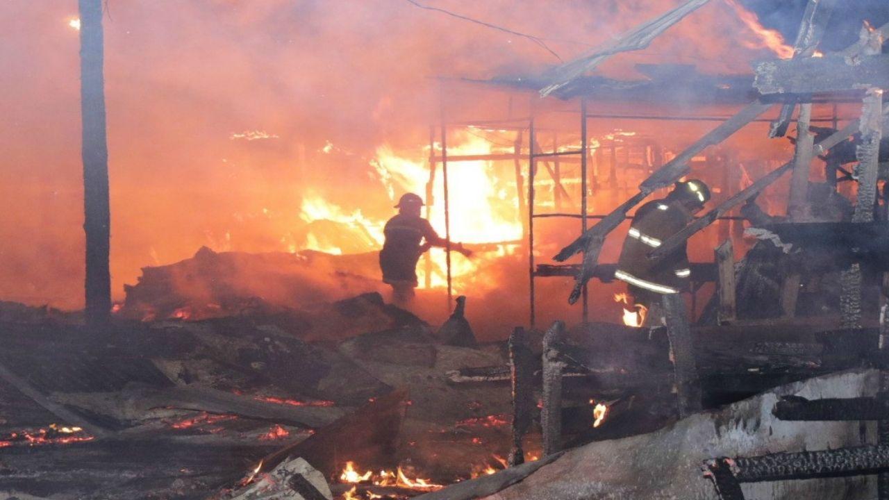 Fire at Ochi market