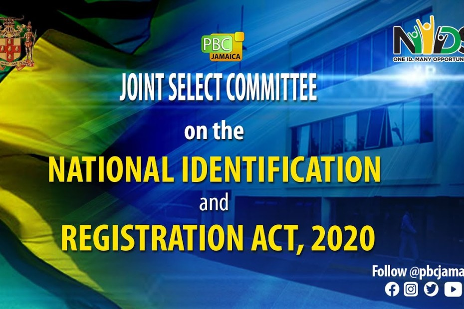 LIVE NOW: Joint Select Committee on the National Identification & Registration Act, 2020 – June 22, 2021