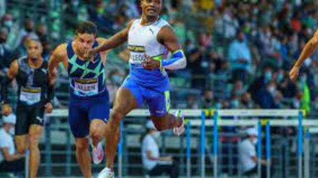 Omar McLeod runs World-Lead 13.01 in Rome