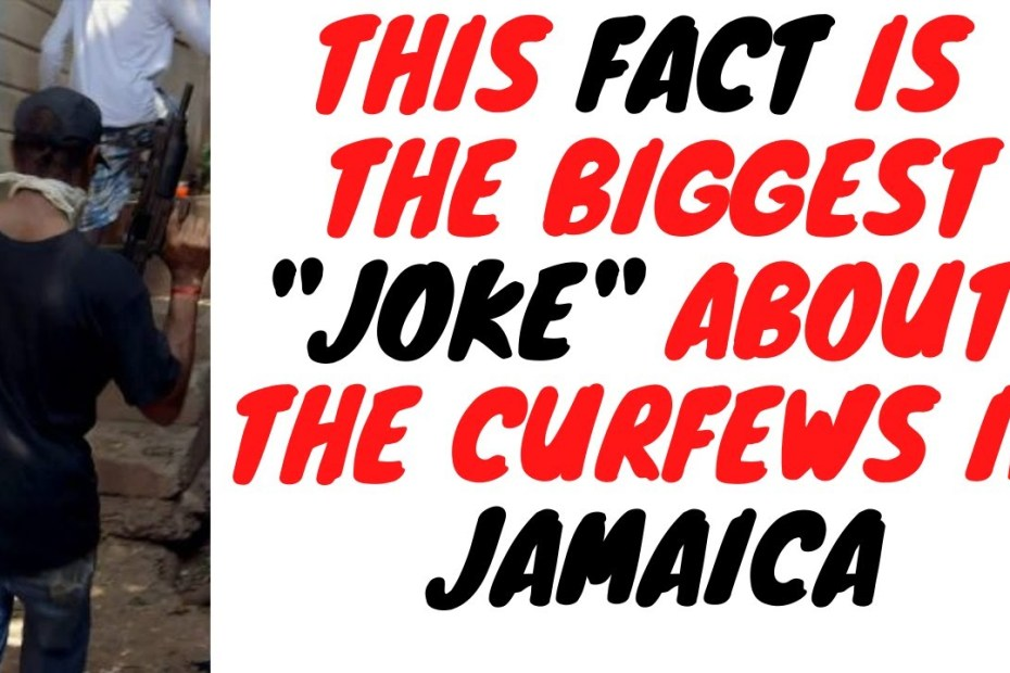 """Jamaica Has Been """"Locked Down"""" For So Long And Guess What"""