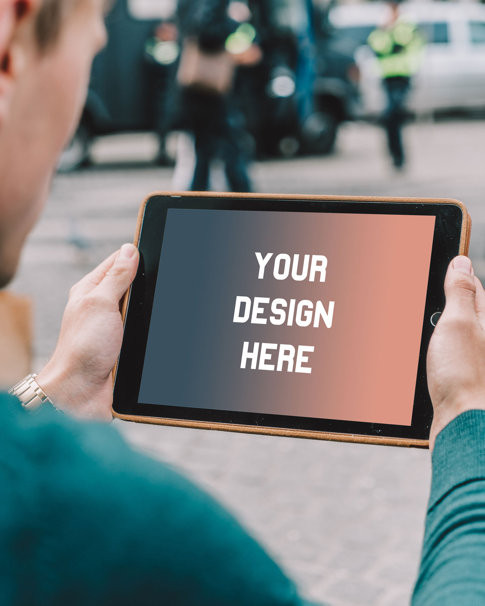 Promote your new ios app with instant ipad mockups in seconds! Ipad In Hands Mockup Free Mockup Download