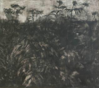 Botanique - tempera sur toile 100 x 90 cm