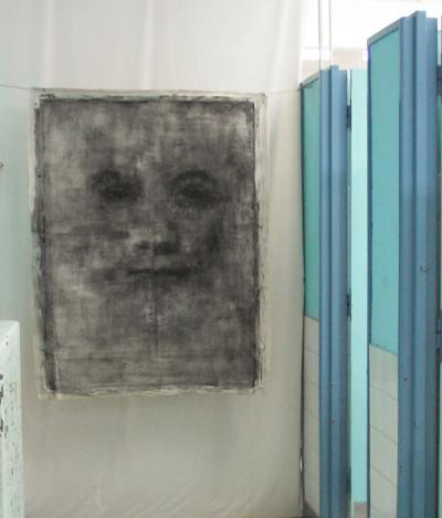 tempera et huile sur toile libre 107 x 128 cm