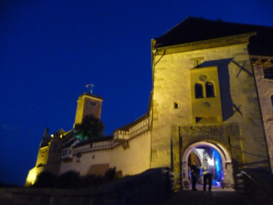 The entrance to Wartburg Castle, and the beginning of the strobe lights