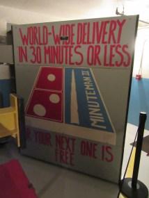 The blast door on the launch control center