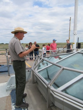 the ranger explaining the launch processs.