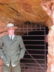 Our ranger guide, dressed in the 1940s apparel of the Park Service