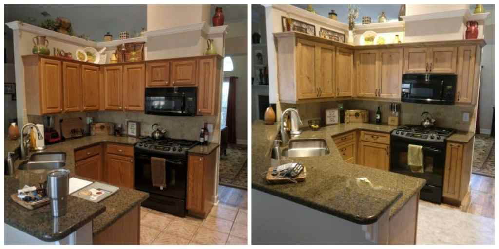 Cabinet Refacing Before - After