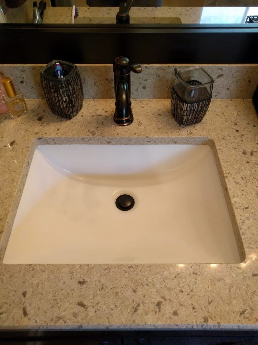 Painting kitchen cabinets remodeling tallahassee mcmanus kitchen - Quartz Top With Undermount Sink Delta Faucet